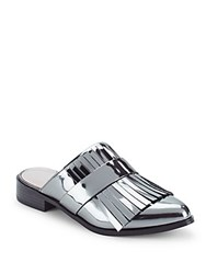 French Connection Lorissa Point Toe Kilt Slip On Sandals Pewter
