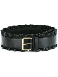 Stella Mccartney Flounced Detail Belt Black