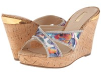 Guess Eleonora Blue Fabric Women's Wedge Shoes