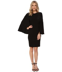 Nue By Shani Crepe Dress With Cape Detail Black Women's Dress