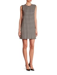 Akris Reversible Houndstooth Cashmere Dress Black Moon