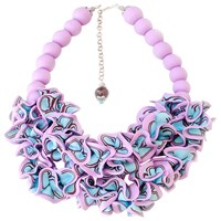 Sara Amrhein Firenze Colorful Ruffle Necklace Multi