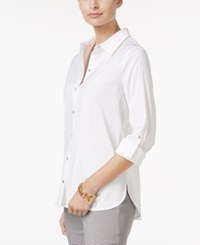 Charter Club Tab Sleeve Shirt Only At Macy's Bright White