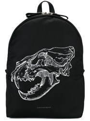 Alexander Mcqueen Lion Skull Print Backpack Black