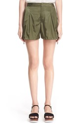 Women's Moncler Water Resistant Pleated Nylon Shorts