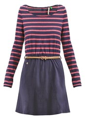 Ragwear Daya Jersey Dress Navy Mottled Dark Blue