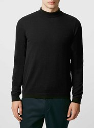 Topman Black Mini Roll Neck
