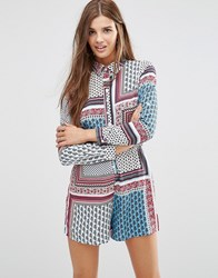 Influence Oversized Playsuit Multi