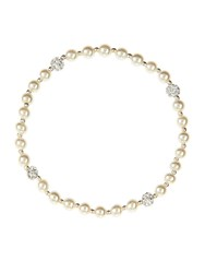 Accessorize Sterling Silver Pearl And Pave Bracelet