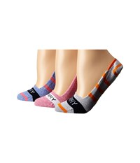 Sperry Marl Signature Invisible Liners 3 Pack Pink Lemonade Dazzling Blue Women's No Show Socks Shoes Multi