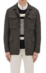 Eidos Basket Weave Safari Jacket Black