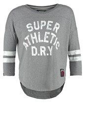 Superdry Long Sleeved Top Dark Marl Grey