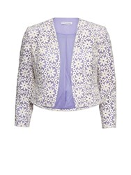 Gina Bacconi Daisy Embroidered Jacket Lilac