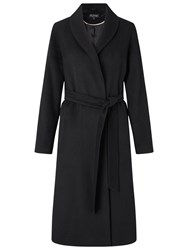 Miss Selfridge Longline Robe Coat Black