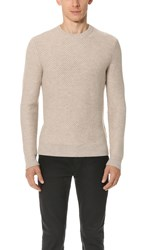 Club Monaco Merino Twill Sweater Oatmeal