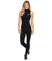 Puma T7 Jumpsuit Black White Women's Jumpsuit And Rompers One Piece