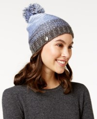 Betsey Johnson Crystal Knit Beanie Periwinkle
