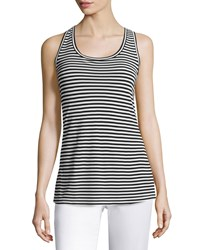 Max Mara Striped Jersey Tank Top Black Size 4