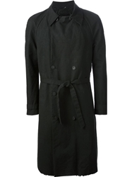 Military Tent Trench Coat Black