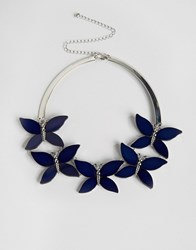 Oasis Butterfly Collar Necklace Black Gold