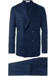 Boglioli Embroidered Formal Suit Blue