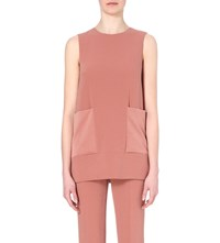 Joseph Blinky Stretch Crepe Tunic Blouse 851Blush