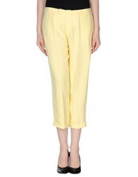 Ekle' 3 4 Length Shorts Yellow