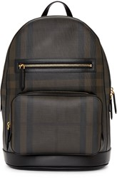 Burberry Black And Brown London Check Backpack