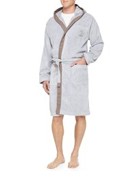 Brunello Cucinelli Men's Cotton Spa Robe Gray Grey
