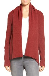 Chelsea 28 Women's Chelsea28 Dolman Sleeve Open Front Cardigan Red Sun Heather