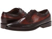 Messico Luciano Dark Brown Cognac Leather Men's Dress Flat Shoes