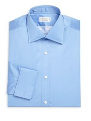 Charvet Solid Cotton Dress Shirt French Blue