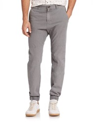 Madison Supply Woven Linen Cotton Jogger Pants Grey Navy