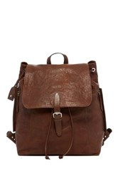 Cole Haan Washed Leather Backpack Brown