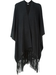 Vince Fringed Cape Grey