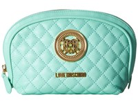 Love Moschino Quilted Makeup Bag Mint