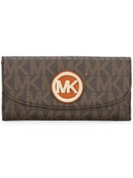 Michael Michael Kors 'Fulton 'Wallet Brown