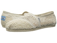 Toms Crochet Classics Natural Morocco Crochet Women's Slip On Shoes White
