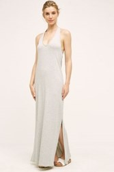 Anthropologie Halter Maxi Dress Light Grey