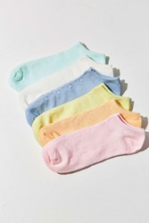 Out From Under Rainbow Pastel No Show Sock 6 Pack Multi
