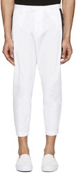 Dsquared White Cotton Cropped Trousers