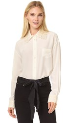 Marc Jacobs Oversized Button Up Shirt Ivory