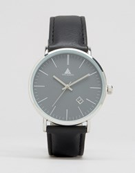 Asos Watch In Black With Date Window Black