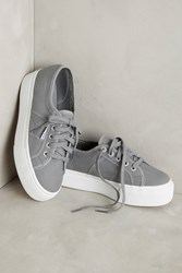 Anthropologie Superga Platform Sneakers Grey Sage