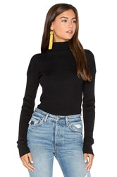 Bishop Young Ribbed Mock Neck Long Sleeve Sweater Black