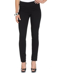Style And Co. Curvy Fit Pull On Jeggings Black Wash