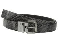 Cole Haan 25Mm Reversible Printed Snake To Silk Calf Belt Black Snake Black Women's Belts