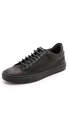 Wings Horns Leather Low Top Sneakers Black Black Black