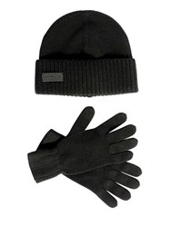 Dsquared Wool Knit Beanie Hat And Gloves Set