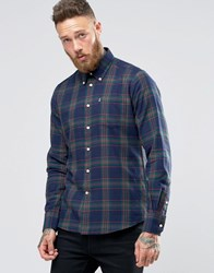 Barbour Shirt In Seth Check In Tailored Slim Fit In Forest Forest Green